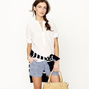jcrew factory | blue gingham short • 0